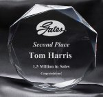 Clear Octagon Award Acrylic Awards
