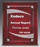 Piano Wood Plaques with Grooves Acrylic Awards
