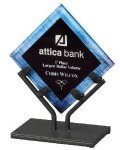 Acrylic Art Galaxy Award - Blue Acrylic Awards