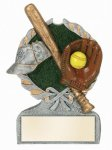 Softball Multi Color Sport Resin Figure Baseball and Softball