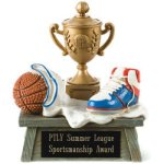 Vintage Trophy Award Basketball Basketball