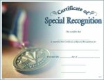 Photo Certificate of Special Recognition Certificate Awards