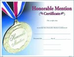 Photo Honorable Mention Certificate Certificate Awards
