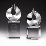 Solid Flame Crystal Award Clear Glass / Clear Optical Crystal Awards