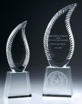 Harmony Flame Crystal Award Clear Glass / Clear Optical Crystal Awards