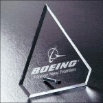Trimline Series Clipped Diamond Clear Glass / Clear Optical Crystal Awards