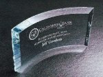 Curved Beveled Clear Glass / Clear Optical Crystal Awards
