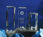 World Tower Clear Glass / Clear Optical Crystal Awards