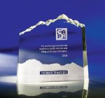 Optic Mountain Clear Glass / Clear Optical Crystal Awards