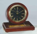 American Walnut Finish Round Clock Clocks and Gift Awards
