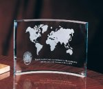 Curved Crescent Corporate Crystal Awards