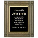 Deep Groove Solid Walnut Plaque Corporate Plaques