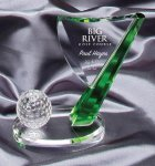 Crystal Golf Flag Crystal Awards