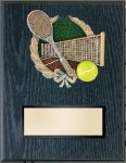 Tennis Resin Plaque Mount Award Economy Plaques and Awards