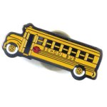 School Bus Lapel Pin Education Trophy Awards