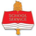 School Service Lapel Pin Education Trophy Awards