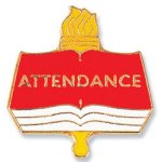 Attendance Lapel Pin Education Trophy Awards