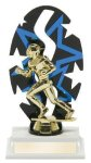 Football Backdrop Trophy Figure and Base Trophies