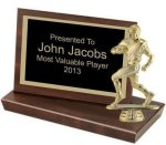 Standing Plaque, 4 1/4 Figure and Base Trophies