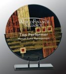 Round Art Glass Award Glass Awards