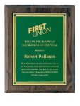 Walnut Hardwood Cove Edge Plaques Golf Awards