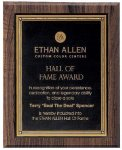 Walnut Hardwood Bevel Edge Plaques Golf Awards