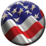 Ball Marker USA Flag Golf Awards