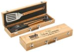 Bamboo 3 Piece BBQ Set Holiday Gift Ideas