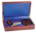 Rosewood Piano Finish Directors Gavel Set Holiday Gift Ideas