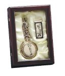 Golf Pocket Watch and Money Clip in Box Holiday Gift Ideas