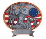 Legend Minute Man Oval Award Military and Patriotic