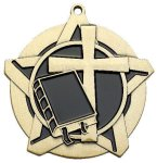 Religion Super Star Medal  Gold Miscellaneous