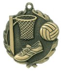 Wreath Netball Medals Miscellaneous