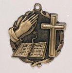 Wreath Religious Bible /Cross Medal Miscellaneous