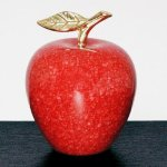 Red Marble Apple Paper Weights