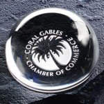 Magnifier Paper Weight Paperweight Crystal Awards