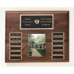 Walnut Perpetual Photo Plaque Patriotic Awards