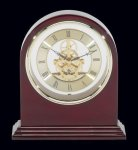Plymouth Rosewood Piano Finish Desktop Clock Religious Awards