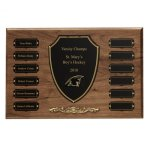 Cast Bronze Trim Perpetual Plaque Religious Awards