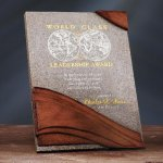 Wave Moonstone Plaque Stone Awards