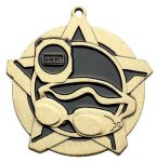 Swim Super Star Medal  Gold Swimming