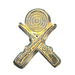 Crossed Rifle Chenille Pin Trapshooting Trophy Awards