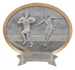 Legend Flag Football Oval Award Trophies - Traditional and Resin