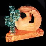Sandstone with Stacked Glass Cactus Tuller Trophy Exclusives