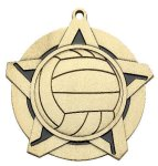 Volleyball Super Star Medal  Gold Volleyball