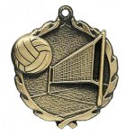 Wreath Volleyball Medals Volleyball