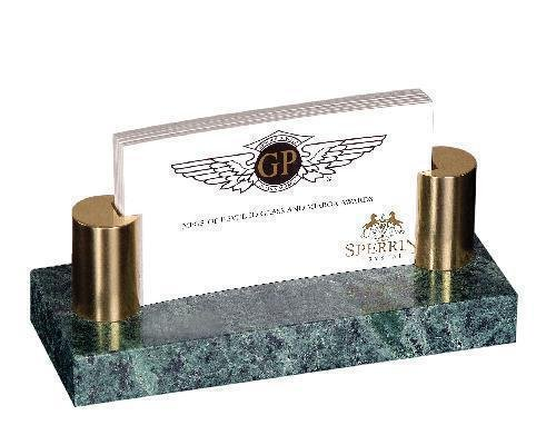 Green Marble Business Card Holder Clocks And Gift Awards