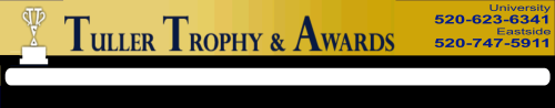 Tuller Trophy & Awards - acrylic awards, crystal awards, cup trophies, perpetual plaques, baseball trophies, football trophies, soccer trophies, corporate plaques, recognition plaques, glass awards, gifts, clocks, arizona, Tucson, trophies, trophy, military, buffalo soldier statues, cast bronze plaques